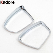 Kadore For Ford Kuga Escape 2013 2014 2015 ABS Chrome Auto Side Door Rearview Mirror Bezels 2PCS Back Mirror Rain Eyebrow Trim