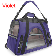 Fashion Outdoor Pet Dog Carrier with Fleece Bed Breathable Folding Luggage Bags for Dog Cat