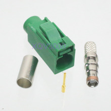2pcs Connector Fakra E 6002 SMB female jack crimp for RG58 LMR195 RG142 Green