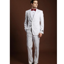 The latest style hot sale wedding occasions the groom suit pure white men suit multi-color optional men's formal suit