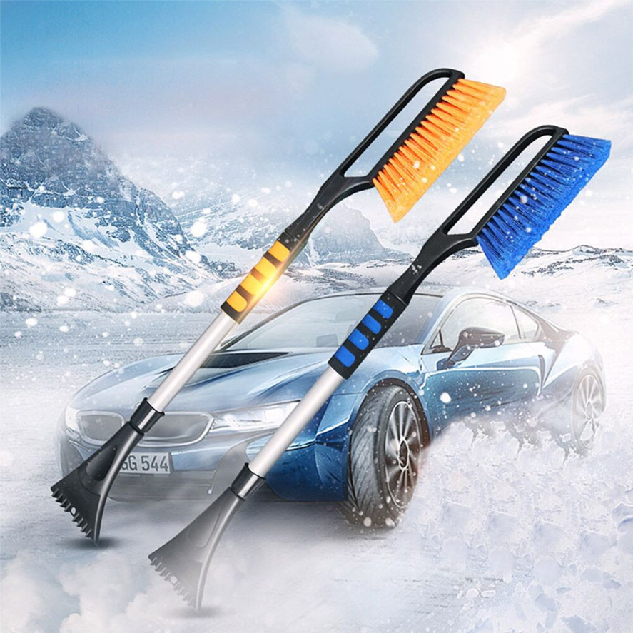 For Car Windshield Multipurpose Long Handle Snow Removal With Brush Ice Scraper