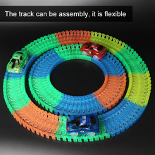 Roller coaster Diecasts Toy With Flashing Lights Vehicles For Children Play Car Racing Games DIY Puzzle Roller Coaster Track