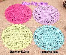 Featured 22.5cm round pvc table mats placemat coasters set for dinner 4 pieces per lot