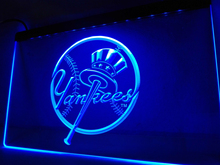 LD122- NY New York Yankees Bar Club   LED Neon Light Sign   home decor  crafts