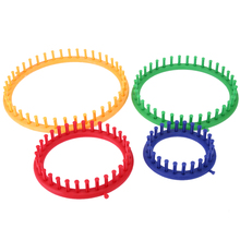 4 Size Colorful Knitting Machine Knitting Loom Set Round Circle Hat Knitter Sewing Tools For Hats Scarves DIY Tool Kit(China)