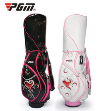 Genuine PGM Golf Sport Bag High Quality Waterproof PU Lady Standard Package Cover with Snake Lines Women Cart Bag