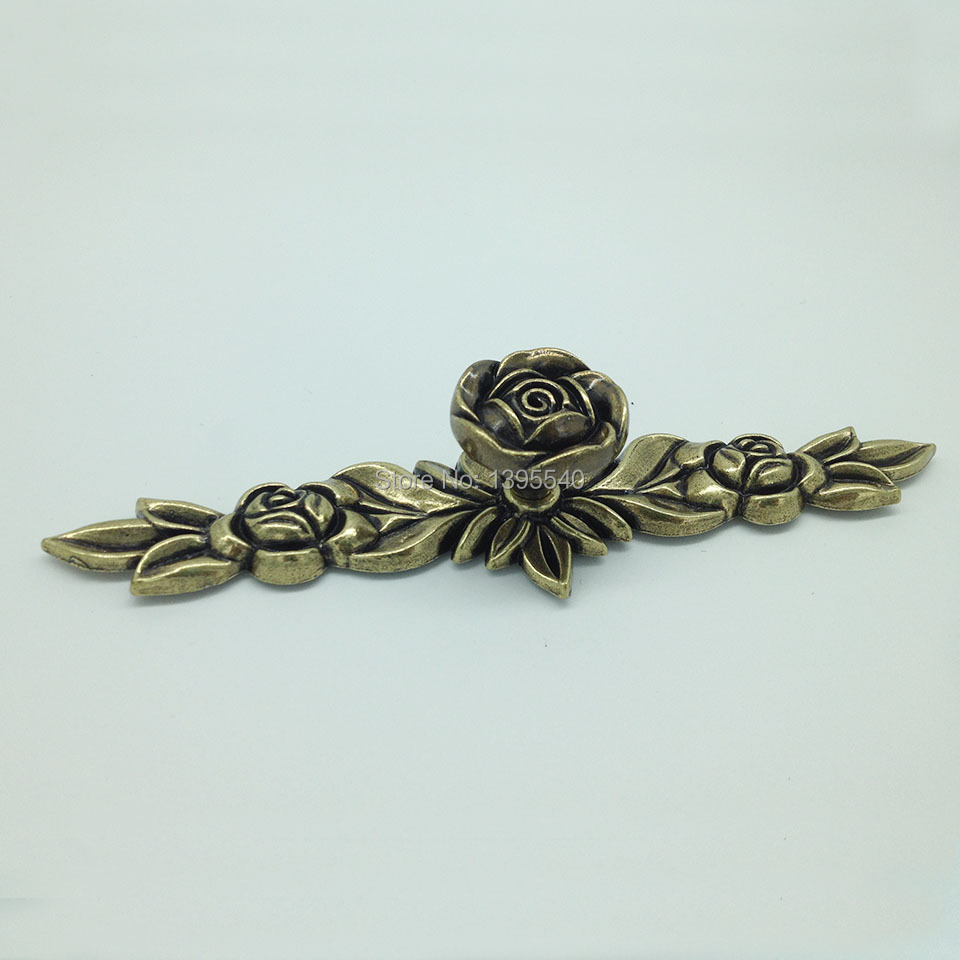 New 10pc Bronze Zinc Alloy Rose Kitchen Cabinet Handle Antique Cabinet Drawer Handle&amp;Knob Eur-Style Furniture Hardware Bar Pulls<br><br>Aliexpress