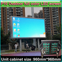 SMD P10 Full Color LED Display Outdoor water-proof Advertising display screen Cabinet size 96cm*96cm, DIY full color video wall(China)