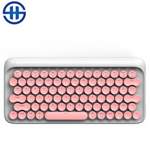 Lofree Dot Bluetooth USB Keyboard Mechanical Keyboard Wireless Backlit Round button for ipad/Iphone/Macbook/PC computer(China)