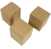 5x5x5cm Square Blank soap packaging Boxes,Small gift packing cardboard box cube,Kraft paper packaging box 50pcs