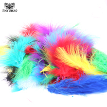100pcs chicken feathers Mix Color feather DIY decorative natural turkey feather Crafts production plumes(China)