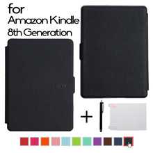 "Folio Premium PU Leather Smart Cover For Amazon All-New Kindle E-reader 6"" Display 2016 Release 8th Generation (Auto Wake/Sleep)"