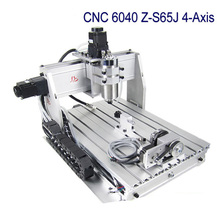 Free Shipping CNC 6040 Z-S65J 4 Axis 3D wood engraving machine PCB drilling router with 800W spindle VFD water cooling