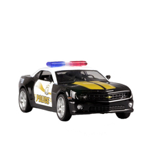 RMZ City Alloy Pull Back 1:32 Chevrolet Bumblebee Simulation Model Of  Toy Police Car Original Authorized Authentic Kids Toys