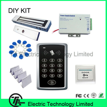 F007 standalone ID access control single door system+ 350 pounds 180KG magnetic lock+ power supply + exit button + ID key/ card(Hong Kong)