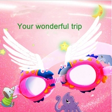 2017 kid swim goggles children mirror waterproof suit cartoon animals  Anti-Fog Protection Child swimming glasses Eyeglasses
