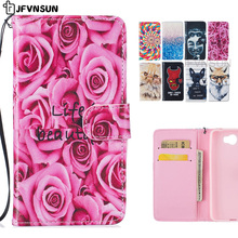 JFVNSUN Phone Case for Huawei Y5 II Cute Animal Cat Wolf Dog Flower Stand Wallet Magnetic Leather Flip Cover for Huawei Honor 5A