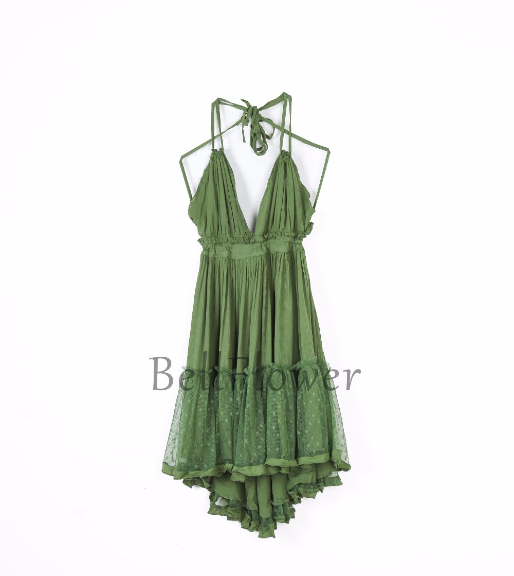 BellFlower 17 Summer Bohemian Women Mini Dress Backless Beach Dress Holiday Boho Strapless Sexy Ball Gown Hippie Chic Dress 14