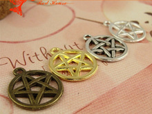 16MM Silver Bronze David Star Pendant jewelry making retro mobile phone accessories, wholesale star of david charm for bracelet