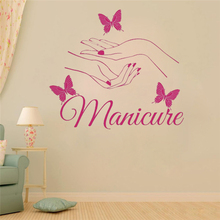 ZN G002 vinyl wall sticker Beauty Hair Salon Nail  Manicure Wall stickers Decal kids room Wall Personalized Name Nursery Decor