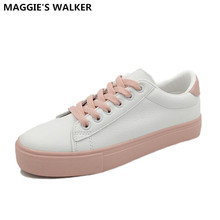 Buy Maggie's Walker New Arrival Women Trendy Casual Shoe PU Lacing Casual Spring Shoes Platform Outdoor Shoes Size 35-40 for $27.99 in AliExpress store