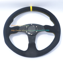 Game Steering Wheel Car Steering Wheel Flat Model Suede With Aluminum 350mm Diameter