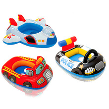 Cartoon car airplane baby ring floating ring swimming laps swimming ring life buoy child seat Float in the pool baby float(China)