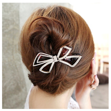 Fashion Hair Accessories for Women Long Hair Clip Korean Style Barrettes Elegant Butterfly Hairpin Large Size Black/Brown HJ800(China)