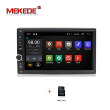7'' 2 Din Android7.1 Quad Core Car Radio GPS universal radio Stereo Audio Head Unit  BT 2G RAM support 4G LTE DAB+ free shipping