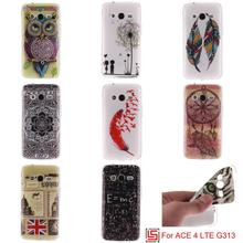 Cheap Ultra Thin TPU Silicone Soft Phone Cell Mobile Case Cover Cove For Samsung Samsun Galaxy Galaxi ACE 4 LTE G 313 G313(China)