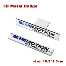 3D Chrome Bluemotion Technology Emblem Badge Car Stickers For VW Volkswagen Tiguan Golf Jetta Car styling Auto accessories