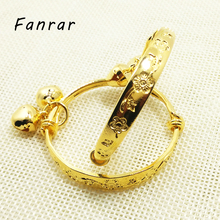 FANRAR 2PCS Fashion Flower Bell Bracelet Jewelry Accessories china Baby Kids Baby Girl Plated Gold Silver Bracelet Birthday Gift