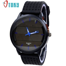 OTOKY relogio masculino watch men Casual Fashion Stereo Surface Silicone Quartz Mens Wristwatches #40 Gift 1pc