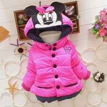 New 2017  girls winter Minnie coat children outwear & coats baby kids coat for children,kids jackets,casual baby clothing