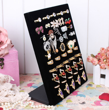 Fashion new arrival can hold 50pcs rings display earrings holder jewelry display jewellery show shelf with L model design