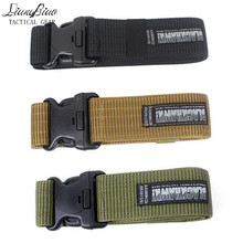 New Hot Sale Adjustable Army Tactical Belt Combat Rigger Militaria Military Waistbelt For long-lasting With Four Colors