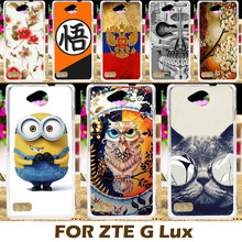 Painting design Hard Plastic Case For ZTE Blade G Lux Kis 3 Max / V830 4.5 inch Cell Phone Cover Protective Sleeve Back Shell