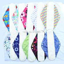 "[Sigzagor]3 Extra Large XL Overnight Reusable Washabe BAMBOO Mama Cloth Pad,Menstrual Sanitary Maternity Pads,14""/35cm 19 Design"