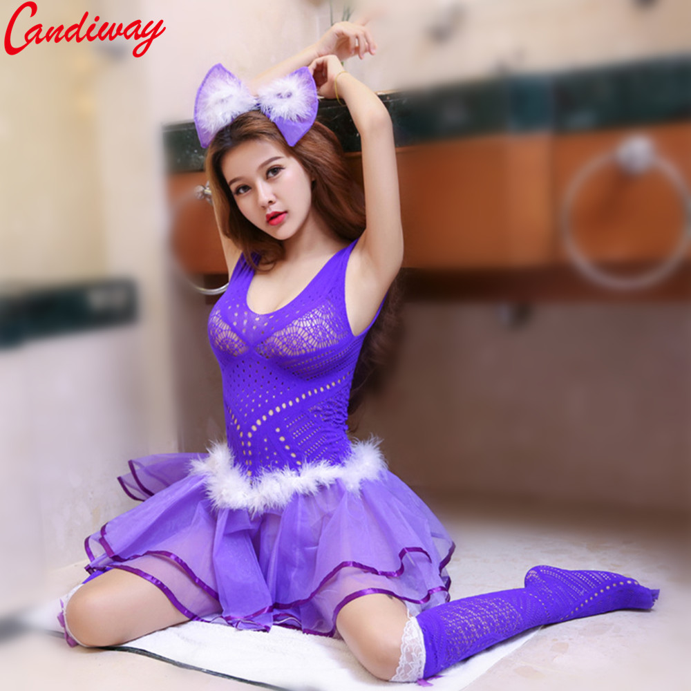 Candiway Sexy Cosplay Princess Lolita Miniskirt Set Outfit Lovely Lady Uniform temptation costumes porn Adult Games erotic