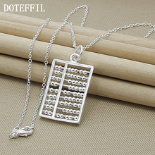 New Design Fashion Abacus Maths Pendant Necklace 925 sterling silver Necklace Geometric Gift Jewellry Wholesale