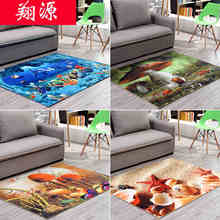 60cm*90cm 2017 New 3D Printing Hallway Carpets, Bedroom Living Room Tea Table Rugs, Kitchen Bathroom Antiskid Mats.