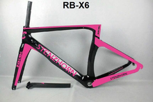 pinl color with pink decals 3k carbon road bike 2017 stenzhorn NK1K frame road bike carbon road frame cheap carbon bikcycle(China)