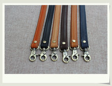Free shipping 10pcs=5pairs/lot Genuine leather+Canvas double layer DIY handbag handles,Real leather bag handle accessories 42cm