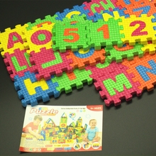36pcs a lot  Spanish letters toys Kids baby puzzle mats 55 * 55MM Spanish alphabet and numbers eva puzzle education