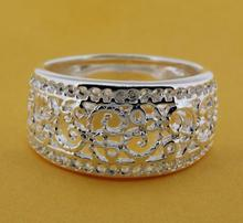 R211 Size:6,7,8,9 Silver plated ring, silver fashion jewelry ring fashion ring /bikajzrasr(China)