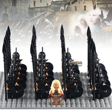WM1006 Game of Thrones 21pcs/lot Daenerys Targryen with Medieval Soliders Army Ice and Fire Bricks Building Blocks Children Toys(China)