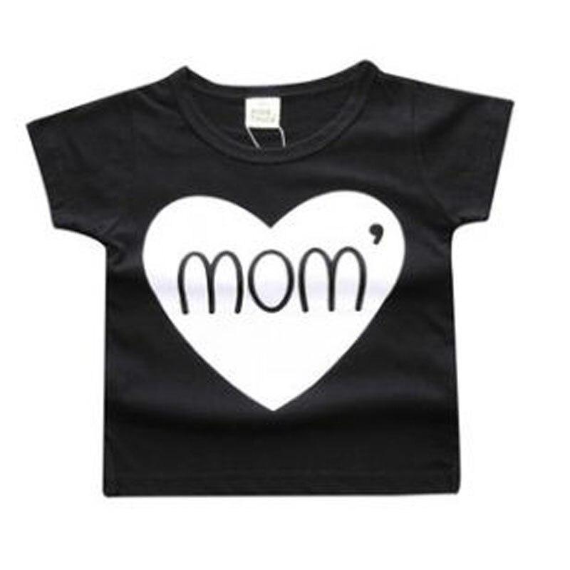 2017 new summer style newborn Baby boys girls clothes Cotton Short sleeve letter Print T-shirt Cartoon tee tops