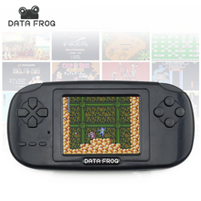 Data Frog Handheld Game Players with 168 Built in Games 3 inch Screen Game Console 8bit Portable Game Consoles(China)