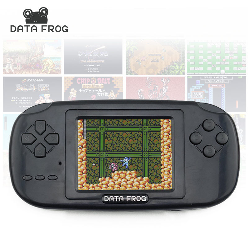 Data Frog Handheld Game Players with 168 Built in Games 3 inch Screen Game Console 8bit Portable Game Consoles(China (Mainland))