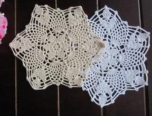 Round DIY crochet table place mat cloth lace cotton placemat Cup holder coaster doilies pad Trivet dining HOT kitchen Tableware